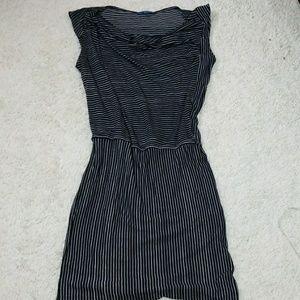 Derek Lam slouch neck flowy striped dress sz Lg
